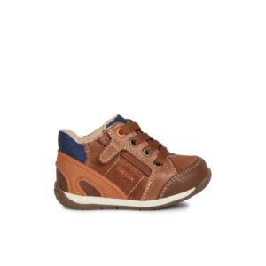 GEOX B Each Boy Brown/Orange elsőlépés cipő 18,20