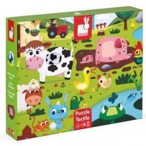 Janod- Tapintós puzzle-Farm állatok