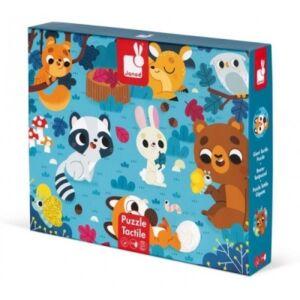 Janod- Tapintós puzzle-Erdei állatok