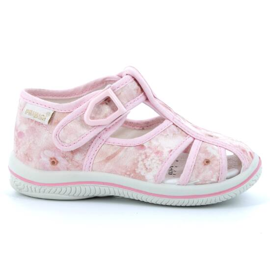 Primigi rózsaszín virágos vászoncipő 20,21,22,25