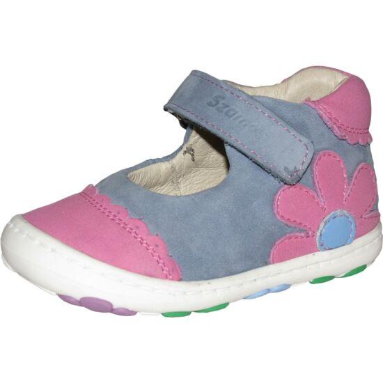 Kék-rózsaszín virágos cipő 19 UTOLSÓ PÁR