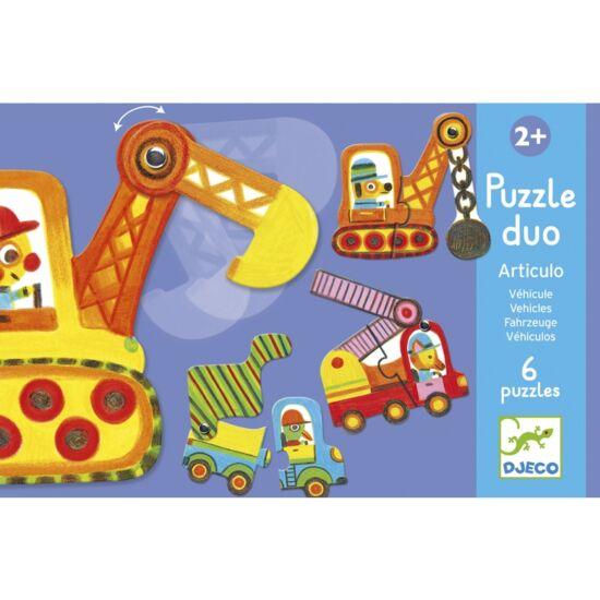 Djeco munkagépek puzzle